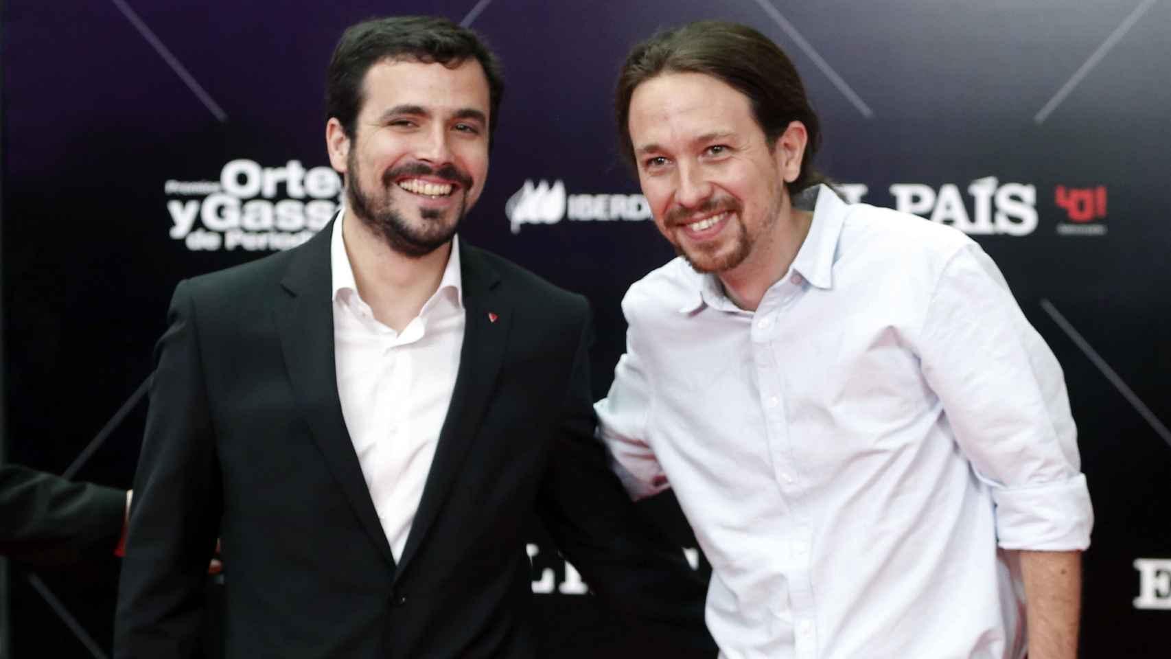 Garzón e Iglesias coincidieron este jueves en un acto en Madrid.