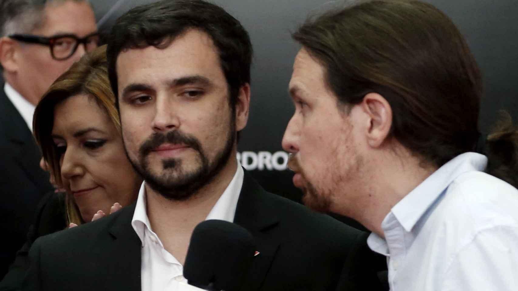Garzón e Iglesias junto a Susana Díaz en un acto reciente.
