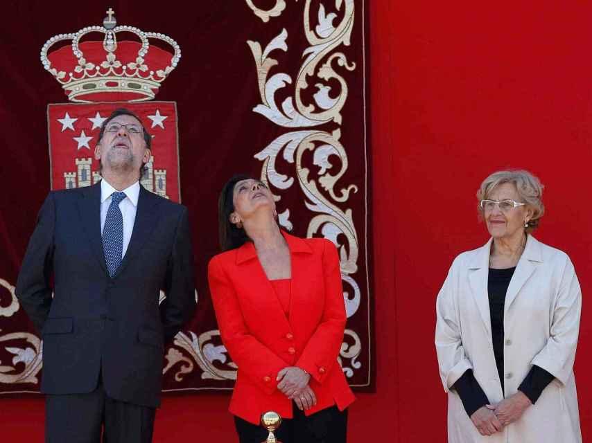Rajoy  y Carmena en la conmemoración del día de la Comunidad de Madrid el 2 de mayo