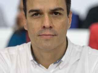 Pedro Sánchez, en una reunión del Comité Federal socialista en Ferraz.