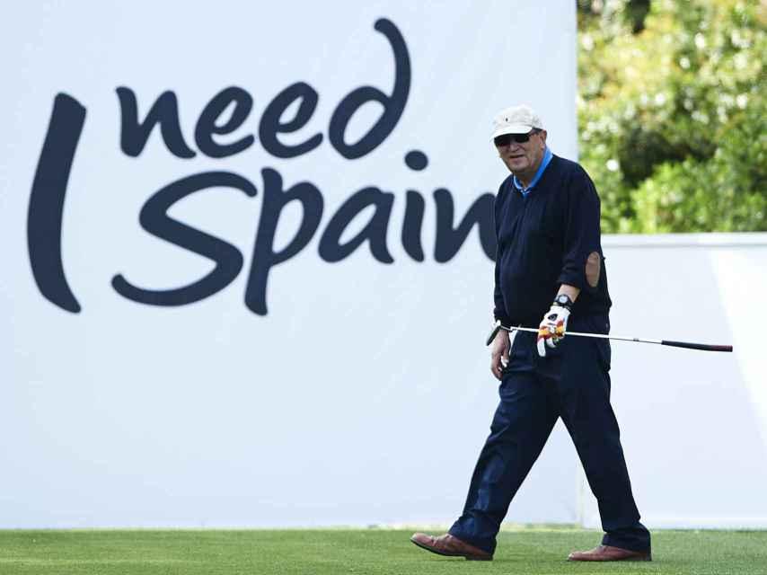 Carlos Fabra en abril de 2013 en el Pro Am del Open de España de golf.