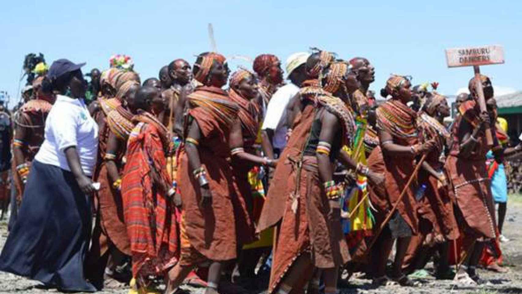 Un grupo de kenianos.