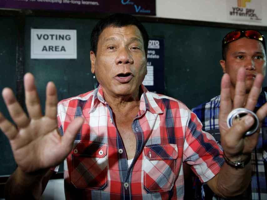 Rodrigo Duterte, apodado el Donald Trump Filipino.