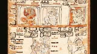 Fragmento del Códice de Madrid, uno de los documentos que usó en su investigación.