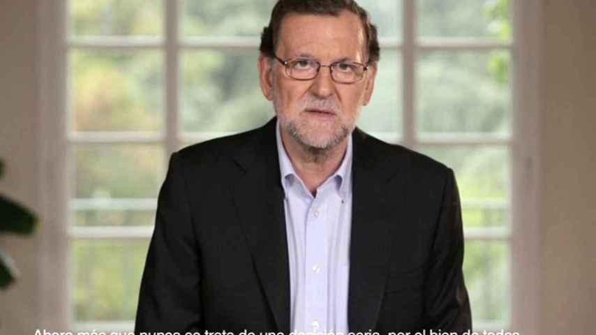 Imagen del vídeo con el que Mariano Rajoy ha iniciado la precampaña.