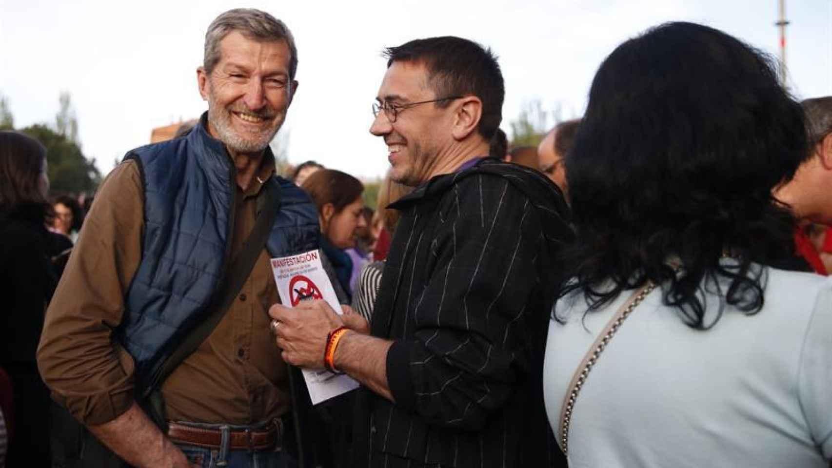 Julio Rodríguez, junto a Juan Carlos Monedero, en un acto celebrado recientemente en Madrid.