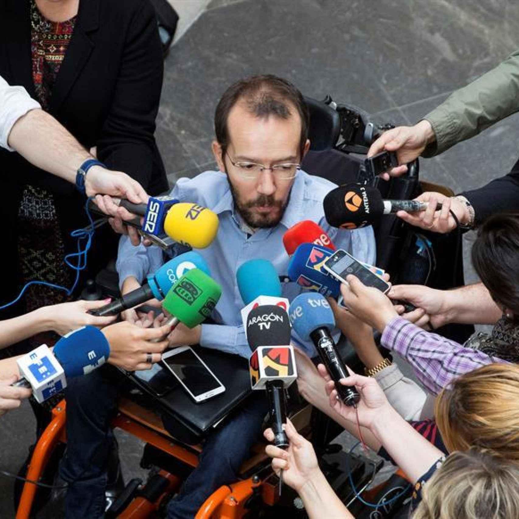 Echenique, en el momento en el que asegurado Rodríguez iría por Zaragoza.