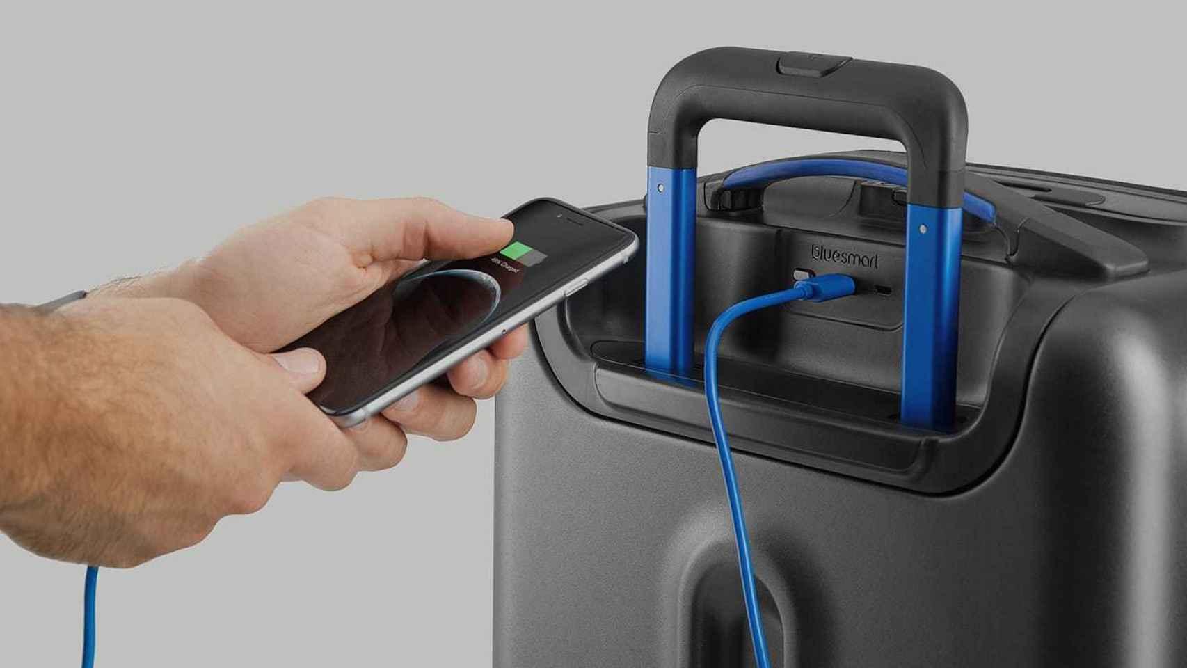 Bluesmart, una maleta que se conecta al móvil.