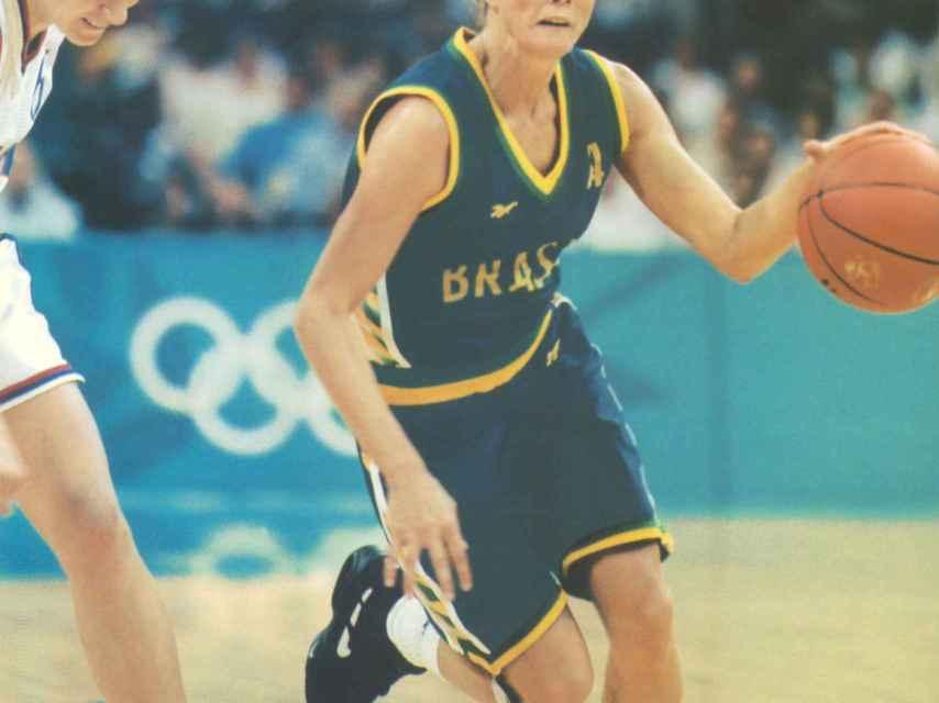 Hortência Marcari durante los Juegos Olímpicos de Atlanta '96.