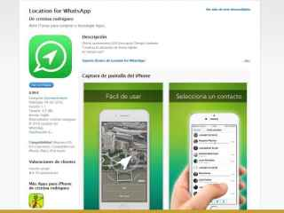 La app Location for WhatsApp en iTunes