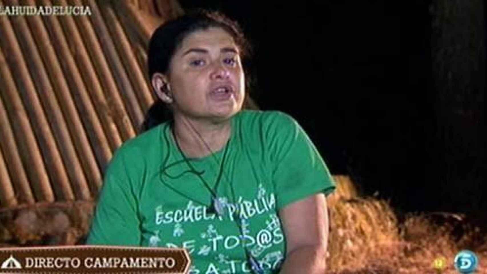 Lucía durante su participación en el reality de Telecinco