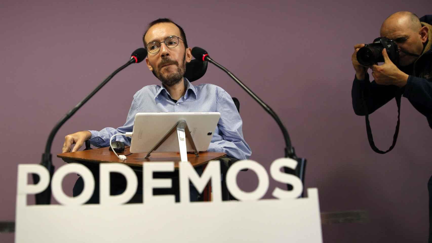 Pablo Echenique, este jueves en Madrid.