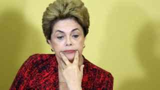 Dilma Rousseff durante una comparecencia en Palácio do Planalto.