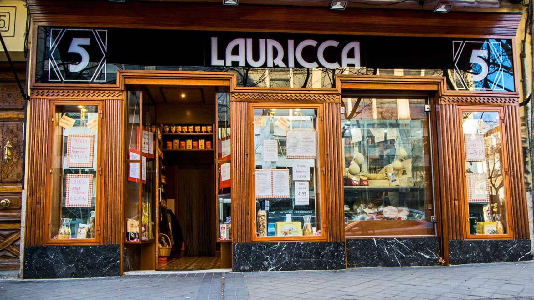 Exterior de la tienda Lauricca.