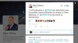 Felisuco elogiaba las primarias de UPyD.