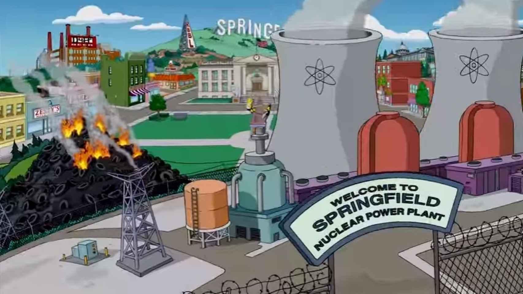 La intro de cada capítulo de Los Simpson muestra el incendio