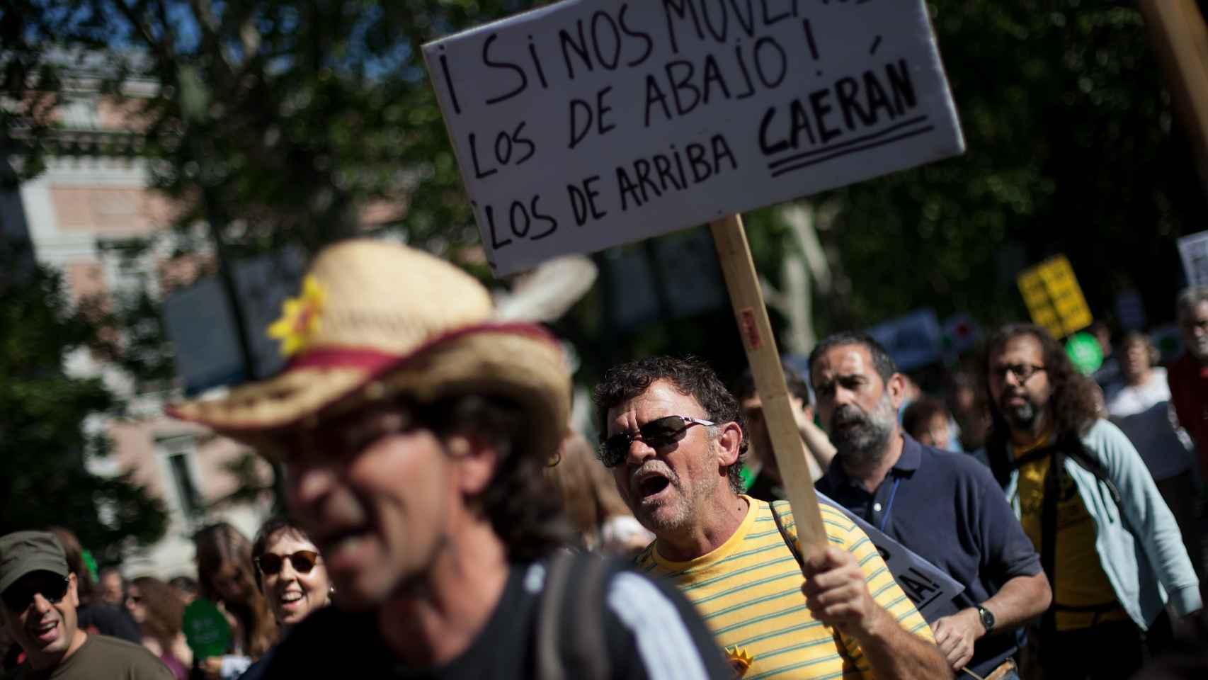 Marcha de Protesta en Sol en el segundo aniversario del 15M.