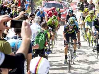 La guera de favoritos comandada por Valverde durante la octava etapa del Giro.
