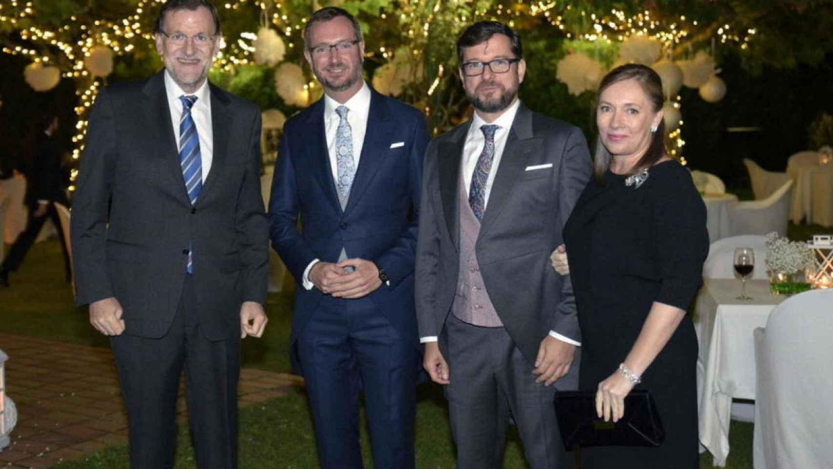 Rajoy y su esposa asistieron a la boda de Maroto y su marido el pasado mes de septiembre