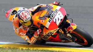 Dani Pedrosa durante el Gran Premio de Francia.