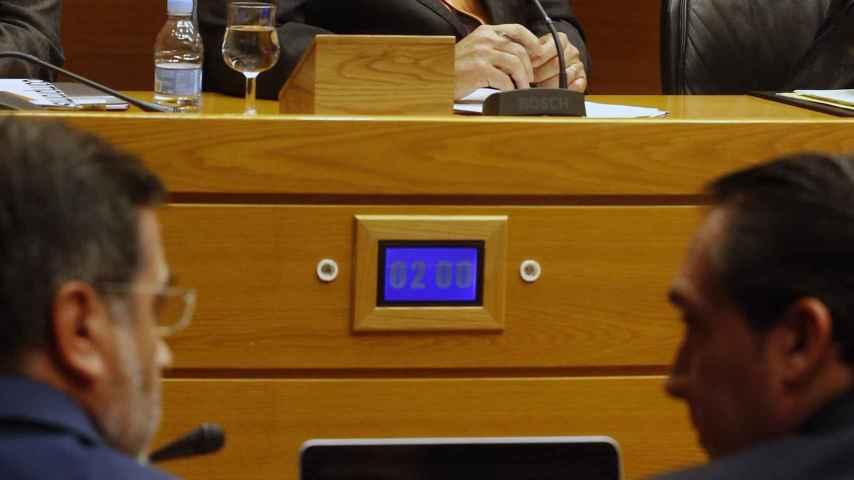 Juan Cotino durante la comisión de investigación de Les Corts