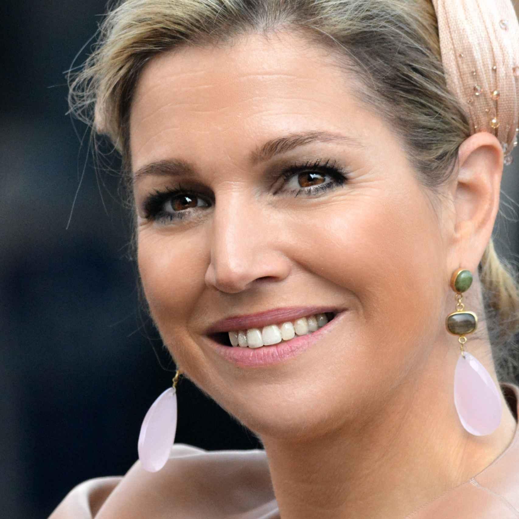 La reina Máxima de Holanda siempre muestra una gran sonrisa