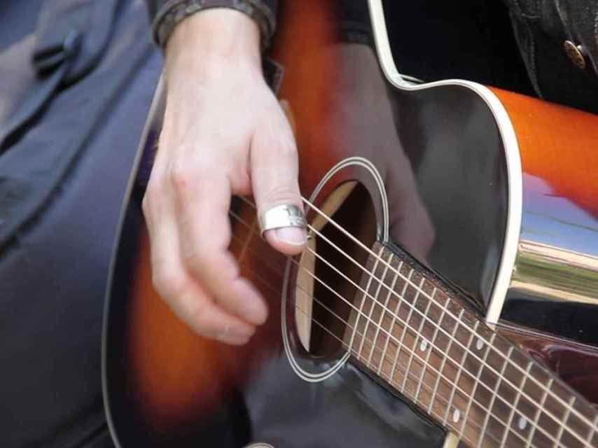 Guitarra de Hendrik, en medio del rodaje del documental.