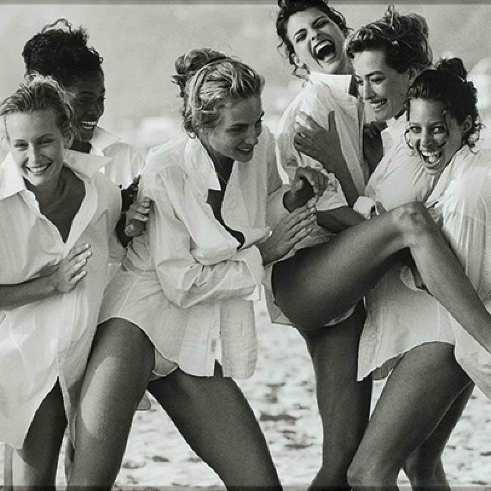 Linda Evangelista y Christy Turlington entre las supermodelos fotografiadas por Lindbergh