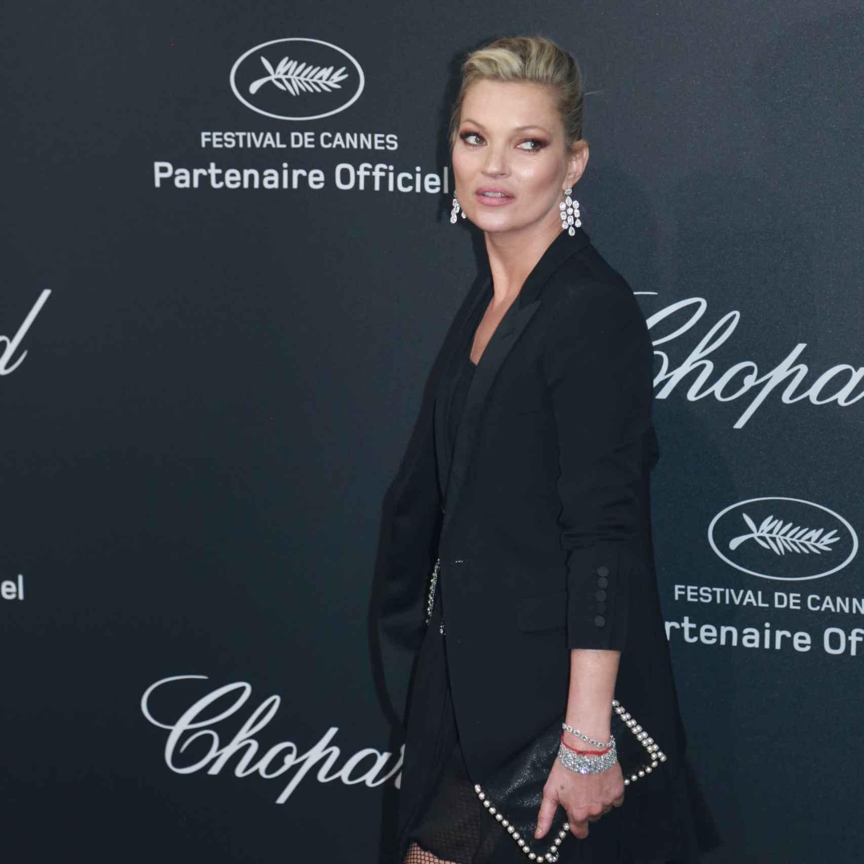 Kate Moss en la fiesta de Chopard en Cannes