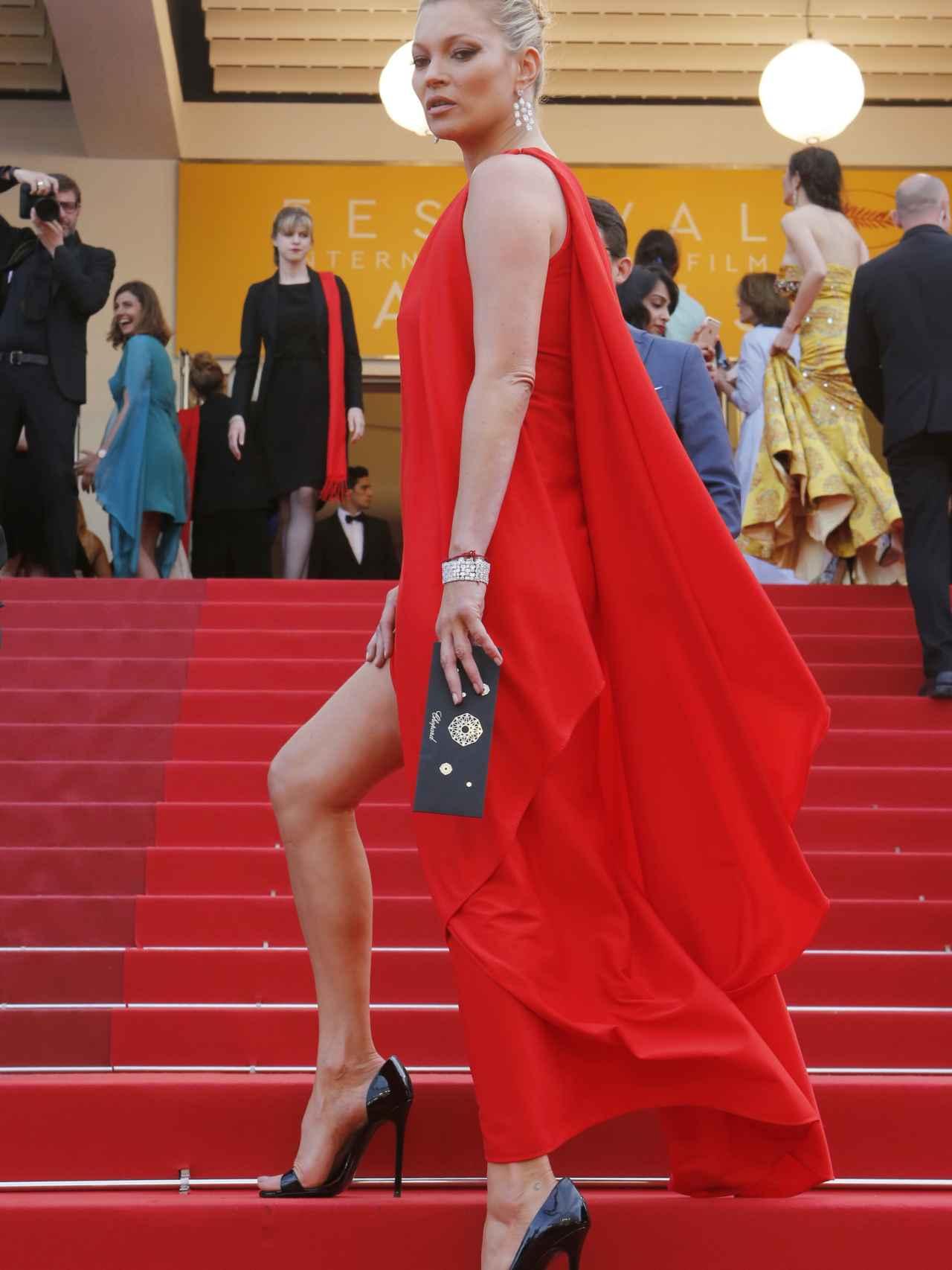 La súper modelo en Cannes