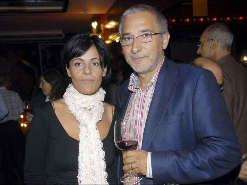 Javier Sardá y su mujer Ana