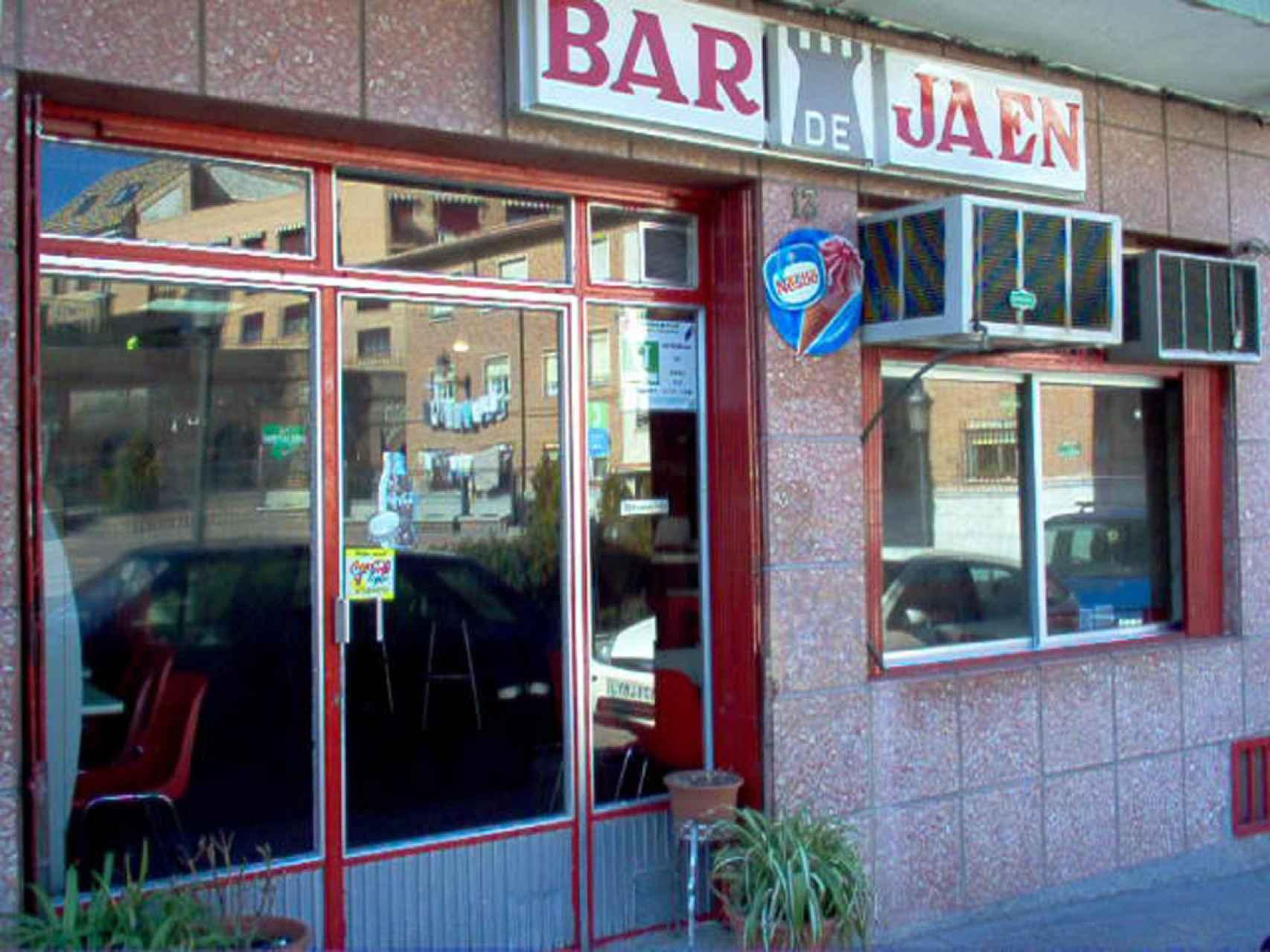 Exterior del bar Jaén.