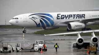 Éste es el avión de EgyptAir que asegurará el siguiente vuelo de París a Cairo.