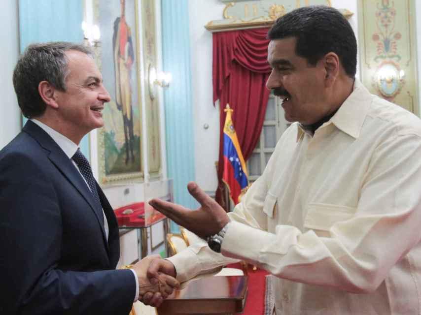 El expresidente Zapatero se reúne con Nicolás Maduro en Venezuela.