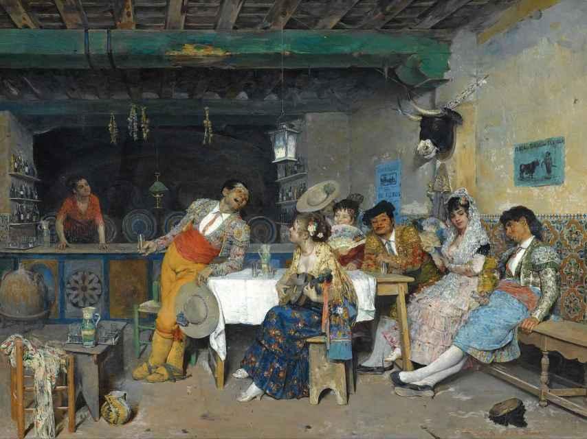Francisco Peralta del_Campo: Diversión en la taberna (1873)