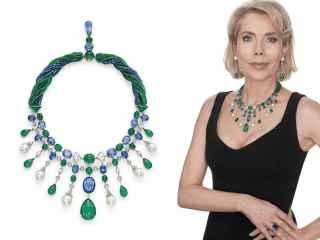 La princesa Gabriela Princess zu Leiningen con las joyas que subasta en Christie's