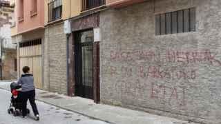 Pintadas a favor de ETA en Etxarri-Aranatz, Navarra (Archivo).