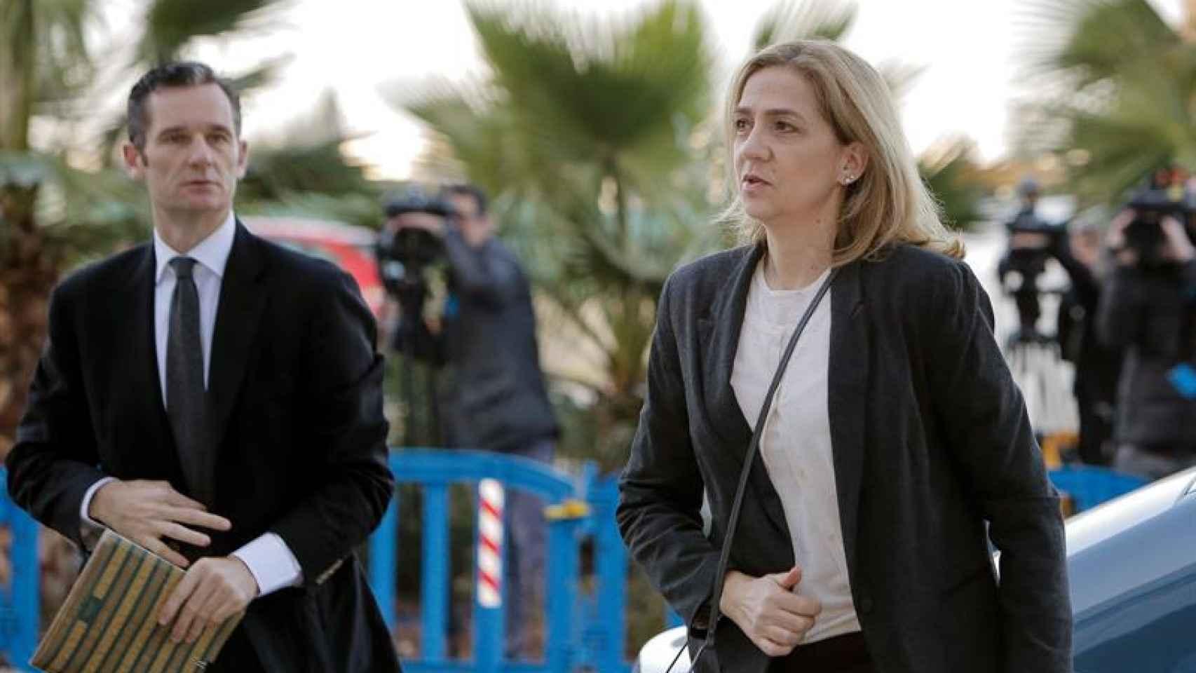 Cristina de Borbón a su llegada al juicio del caso Nóos