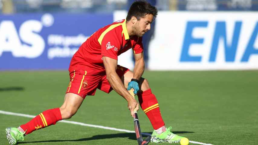 Marc Sallés durante un partido con la selección.