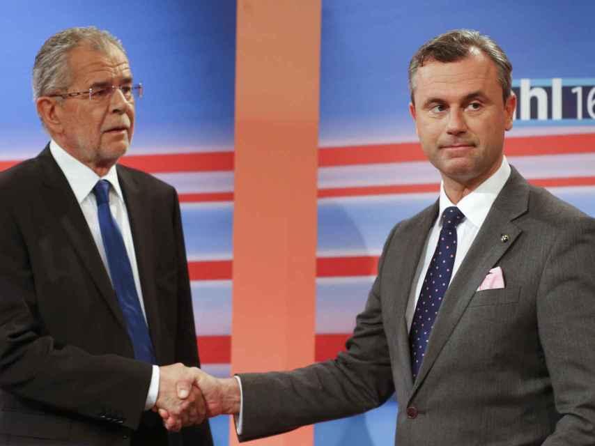 Van der Bellen y Hofer se disputan la presidencia austriaca
