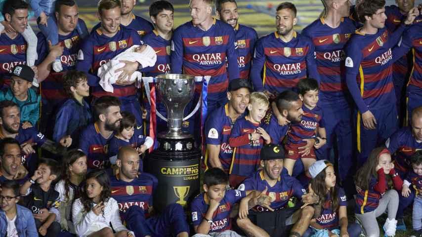 Las mejores imágenes de la celebración del doblete del Barça en el Camp Nou