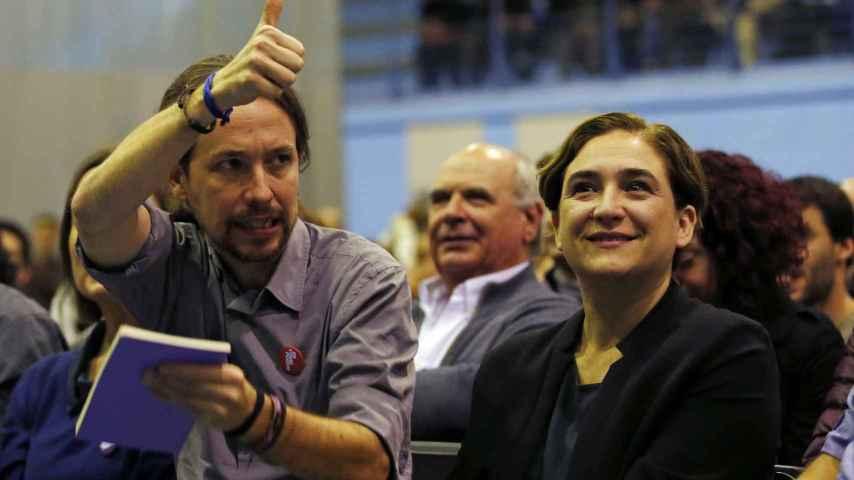 Iglesias y Colau en un mitin conjunto en la campaña del 20-D.