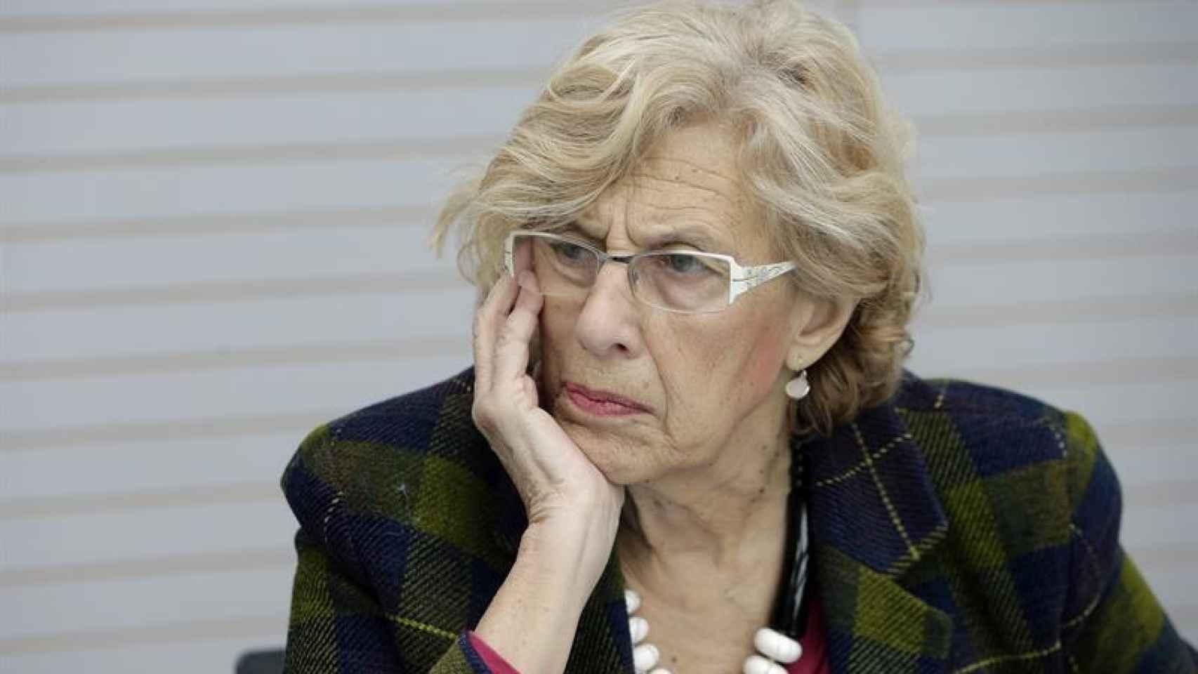 Manuela Carmena, en el Pabellon de Cecilio Rodriguez.
