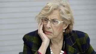 Manuela Carmena, este lunes en el Pabellon de Cecilio Rodriguez.