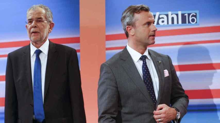 Van der Bellen y Hofer representan visiones políticas opuestas.
