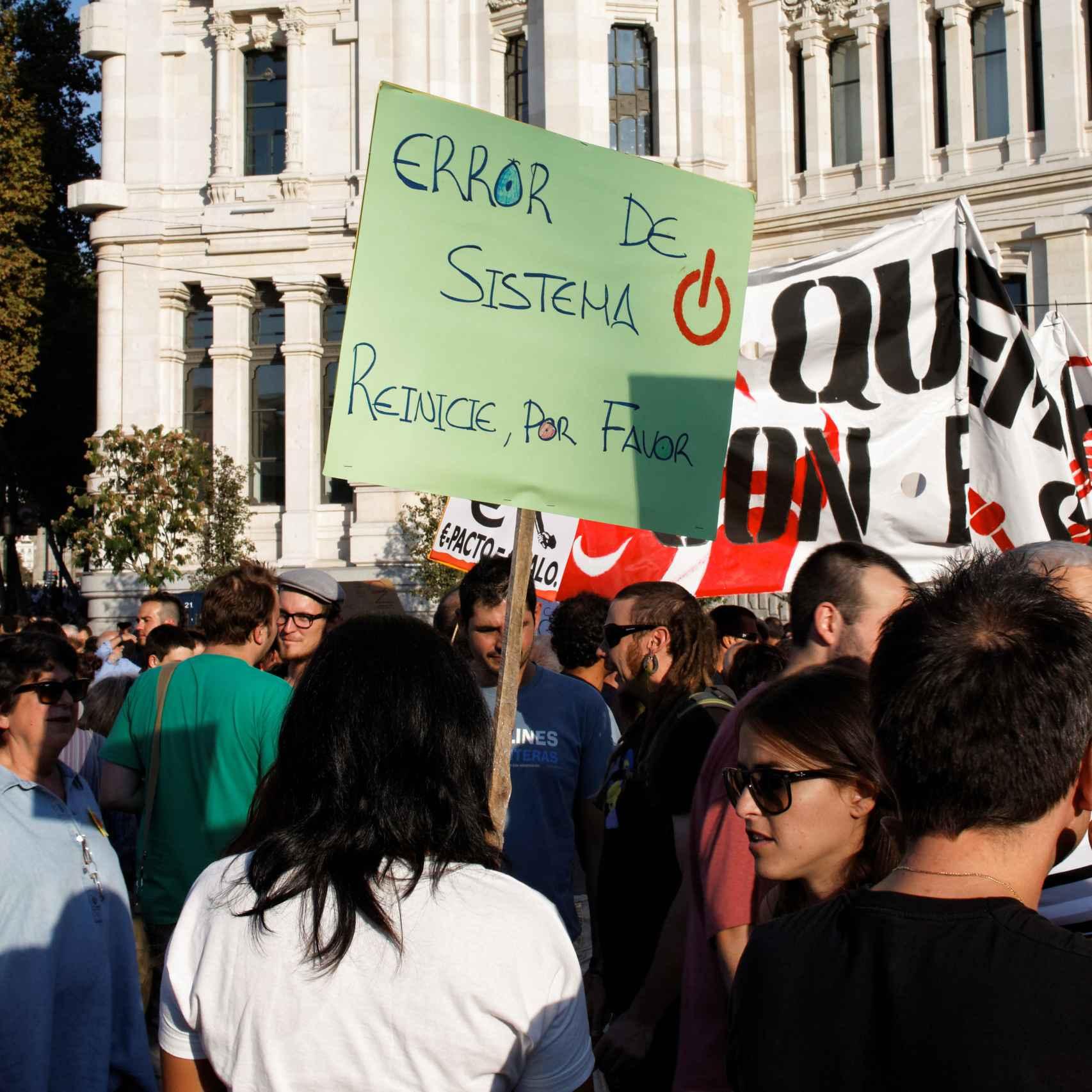 Un momento de la manifestación del 15 de octubre de 2011.