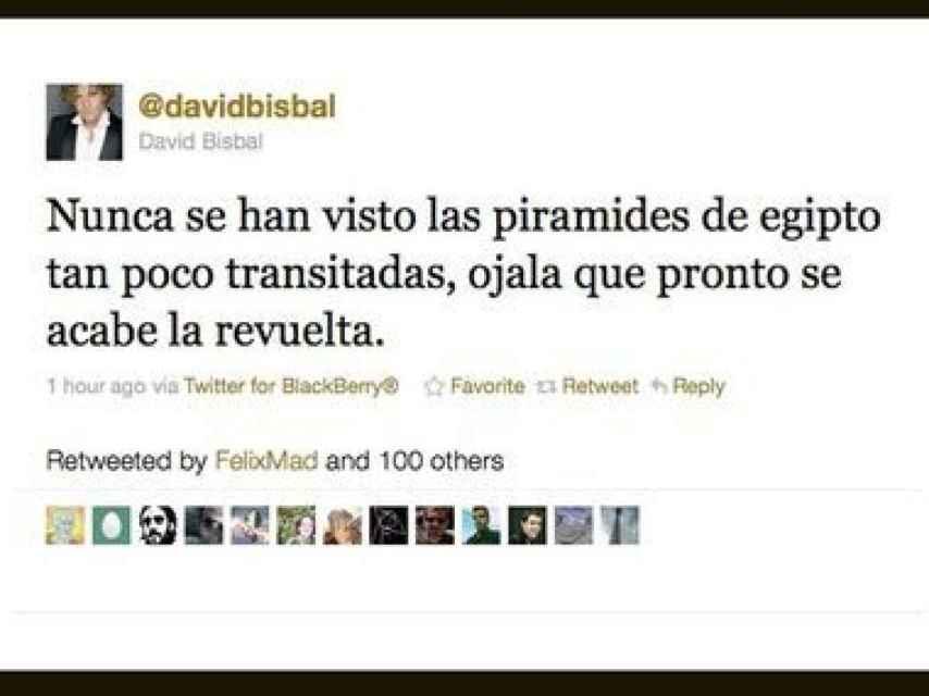 Tweet de David Bisbal en 2011