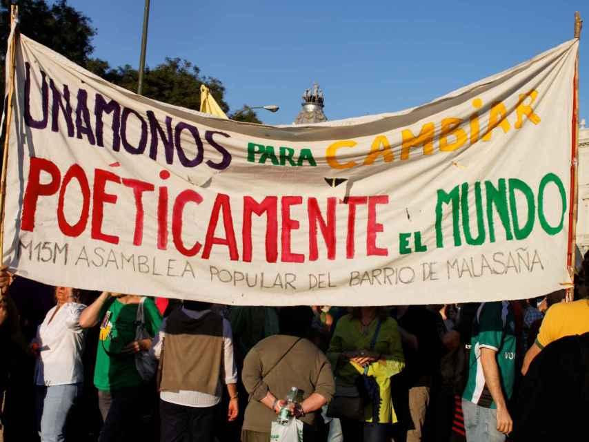 Una imagen de archivo de una manifestación del 15 de octubre de 2011.