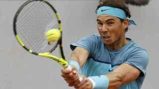 Rafael Nadal durante su debut en Roland Garros ante Sam Groth.