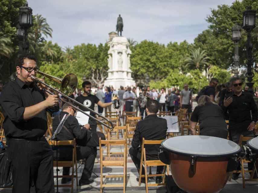 La Sinfónica de Sevilla en plena reivindicación.